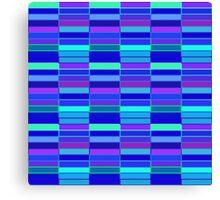 Purple and Blue Geometric Canvas Print