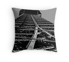 Looking up the Eiffel Tower Throw Pillow