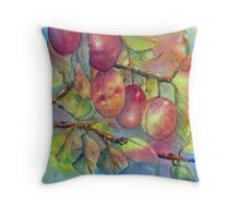 Pick Your Own Plums Throw Pillow