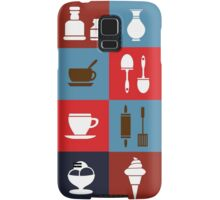 Household items on a colorful background Samsung Galaxy Case/Skin