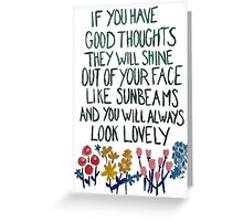 Good Thoughts Greeting Card