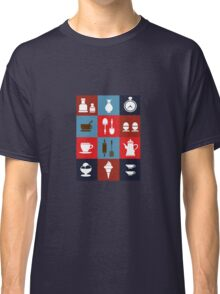 Household items on a colorful background Classic T-Shirt