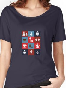 Household items on a colorful background Women's Relaxed Fit T-Shirt