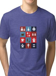 Household items on a colorful background Tri-blend T-Shirt