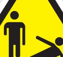 Football Tackle Danger  Sticker