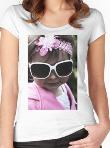 In Pink... Looking Cool Women's Fitted Scoop T-Shirt