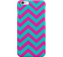 Blue And Pink Chevron Pattern iPhone Case/Skin