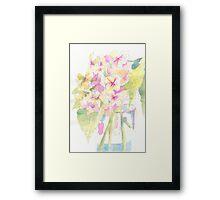 Light and Delicate Framed Print