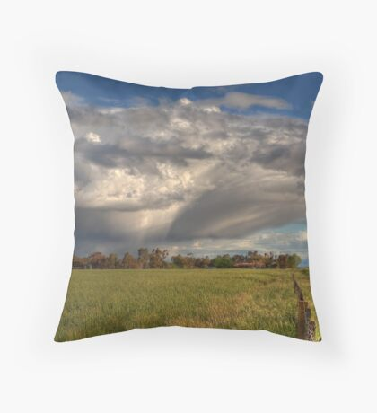 Passing Storm Clouds Throw Pillow
