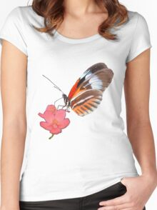 Butterfly & Flower Women's Fitted Scoop T-Shirt