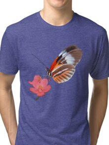Butterfly & Flower Tri-blend T-Shirt