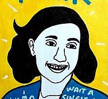 Anne Frank Pop Folk Art by krusefolkart