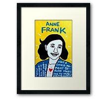 Anne Frank Pop Folk Art Framed Print