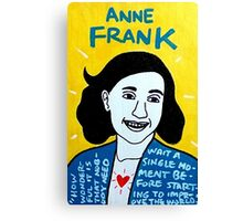 Anne Frank Pop Folk Art Canvas Print