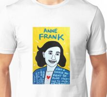 Anne Frank Pop Folk Art Unisex T-Shirt