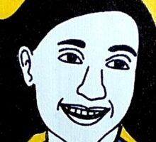 Anne Frank Pop Folk Art Sticker