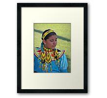 Beautiful Native American Girl Framed Print