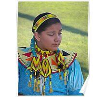 Beautiful Native American Girl Poster