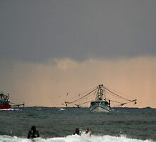 Tweed trawlers (cal image #5) by Odille Esmonde-Morgan