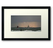 Tweed trawlers (cal image #5) Framed Print