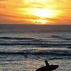 surfer at sunset  by Lucan  Netley (LDN Photoart)