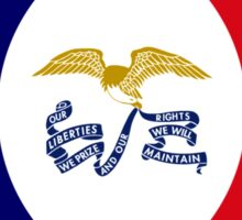 Iowa Murican Patriot Flag Series Sticker