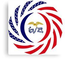 Iowa Murican Patriot Flag Series Canvas Print