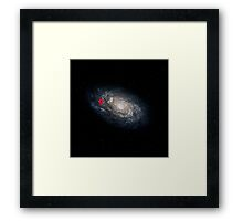 We Are Here! Galactic Location Framed Print