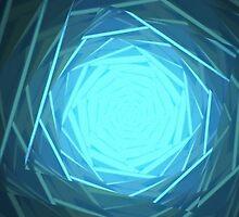 Blue Octadots by Bezio