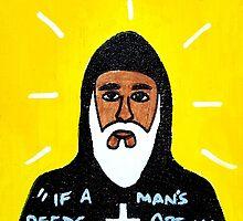 St. Moses the Black Religious Folk Art by krusefolkart