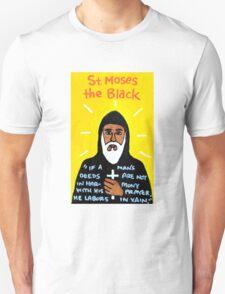 St. Moses the Black Religious Folk Art T-Shirt