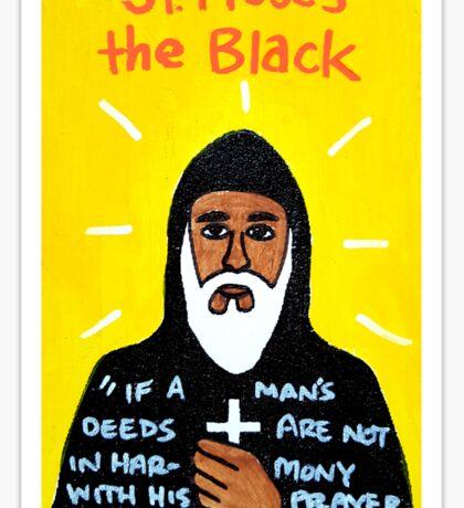 St. Moses the Black Religious Folk Art Sticker
