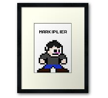 NES style 8-Bit Markiplier Fan Art  Framed Print