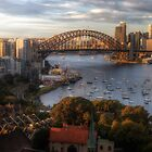 A Little Ray Of Sunshine - Sydney Harbour - The HDR Experience by Philip Johnson