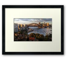 A Little Ray Of Sunshine - Sydney Harbour - The HDR Experience Framed Print