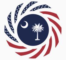 South Carolina Murican Patriot Flag Series One Piece - Short Sleeve