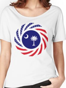 South Carolina Murican Patriot Flag Series Women's Relaxed Fit T-Shirt