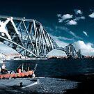 Infrared Forth Rail Bridge by maclac