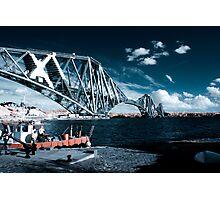 Infrared Forth Rail Bridge Photographic Print
