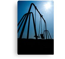 Swinging Silhouette Canvas Print