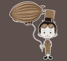 Little Inventor Flying His Airship by Benjamin Bader