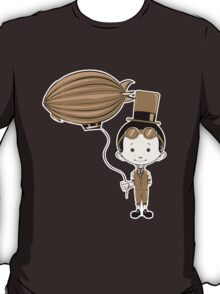 Little Inventor Flying His Airship T-Shirt