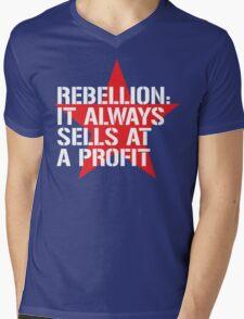 Rebellion Mens V-Neck T-Shirt