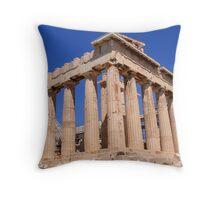 Refurbishing the Parthenon Throw Pillow