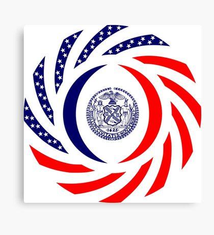 New York City Murican Patriot Flag Series Canvas Print