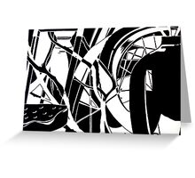 Abstracted Black & White Greeting Card