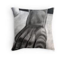 Foot Sculpture Throw Pillow
