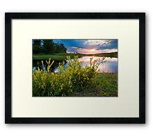 Summer Sunset on Rice River Framed Print