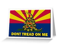 Arizona Don't Tread On Me Greeting Card