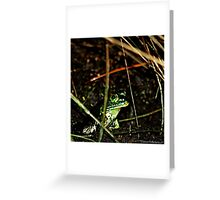 A Little Froggy Greeting Card